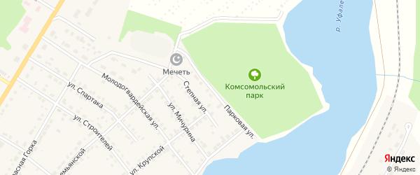 Парковая улица на карте Верхнего Уфалея с номерами домов