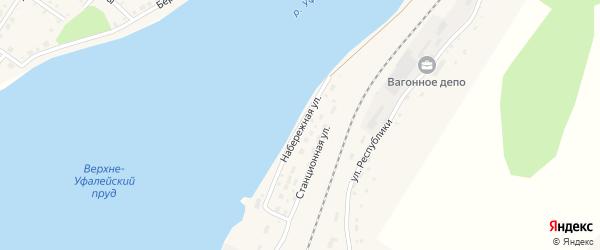 Набережная улица на карте Верхнего Уфалея с номерами домов