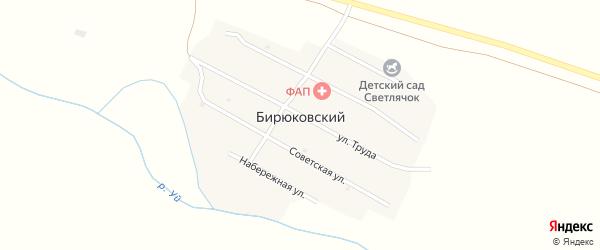 Набережная улица на карте Бирюковского поселка с номерами домов