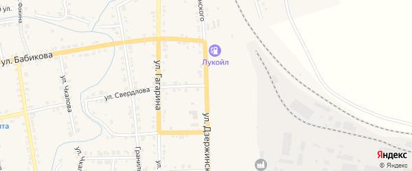 Улица Дзержинского на карте Верхнего Уфалея с номерами домов