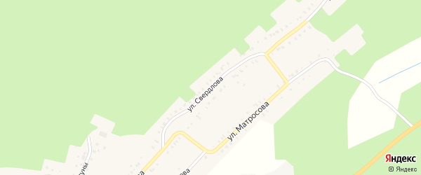 Улица Свердлова на карте Карабаша с номерами домов
