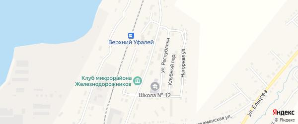 Садовая улица на карте Верхнего Уфалея с номерами домов