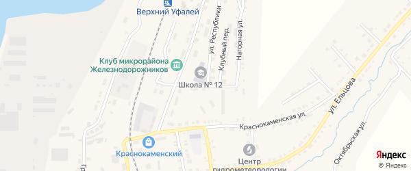 Улица Шулина на карте Верхнего Уфалея с номерами домов