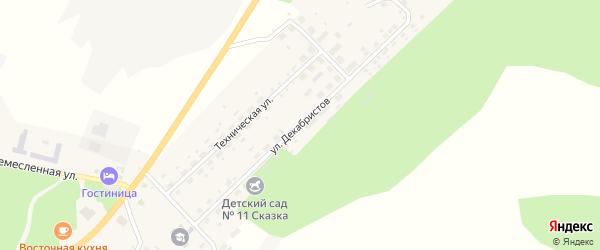 Улица Декабристов на карте Карабаша с номерами домов