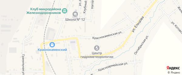 Краснокаменская улица на карте Верхнего Уфалея с номерами домов