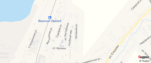 Нагорная улица на карте поселка Коркодина с номерами домов