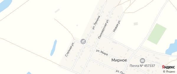 Улица Ленина на карте Мирного села с номерами домов