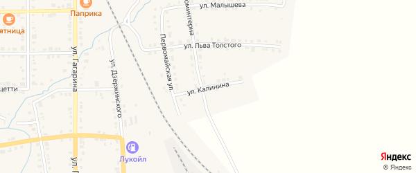 Улица Калинина на карте Верхнего Уфалея с номерами домов