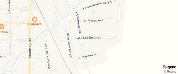 Улица Льва Толстого на карте Верхнего Уфалея с номерами домов