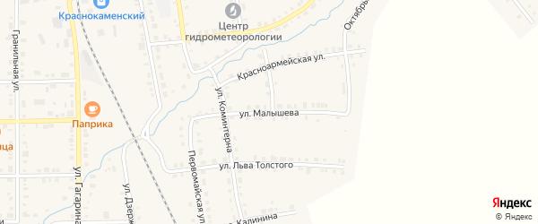 Улица Малышева на карте Верхнего Уфалея с номерами домов