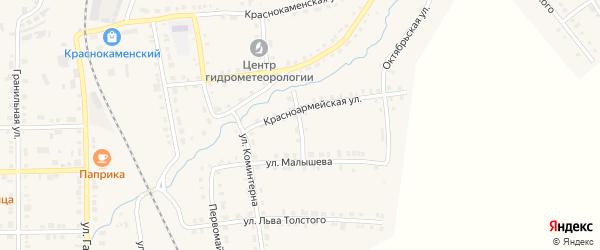 Переулок Малышева на карте Верхнего Уфалея с номерами домов