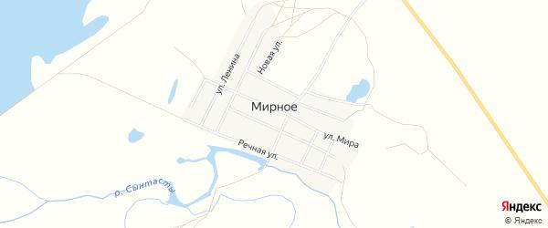 Карта Мирного села в Челябинской области с улицами и номерами домов