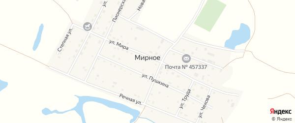 Степная улица на карте Мирного села с номерами домов