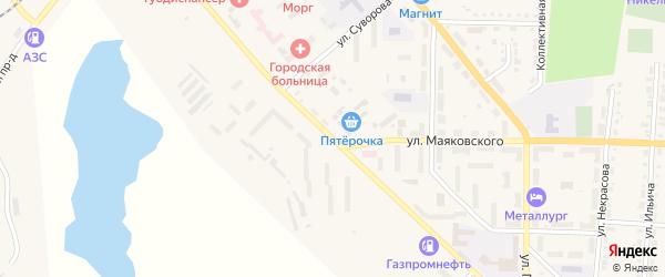 Улица Чекасина на карте Верхнего Уфалея с номерами домов