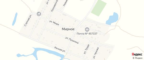 Улица Мира на карте Мирного села с номерами домов