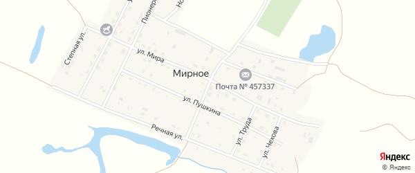 Кооперативная улица на карте Мирного села с номерами домов