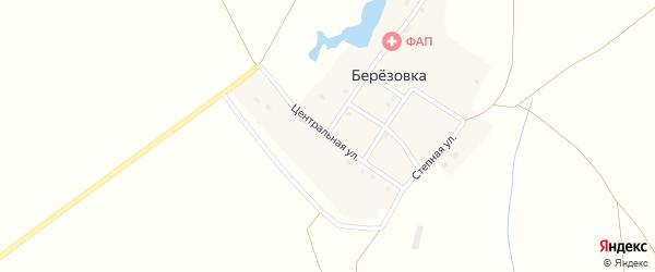 Центральная улица на карте поселка Березовки с номерами домов