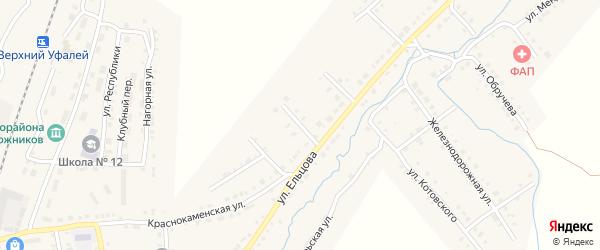Пролетарская улица на карте поселка Нижнего Уфалея с номерами домов