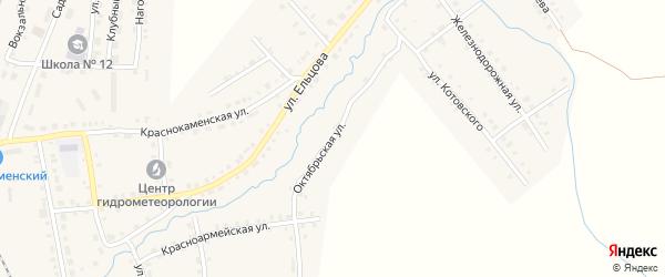 Октябрьская улица на карте Верхнего Уфалея с номерами домов