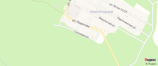 Сосновая улица на карте Пригородного поселка с номерами домов