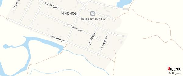 Улица Труда на карте Мирного села с номерами домов