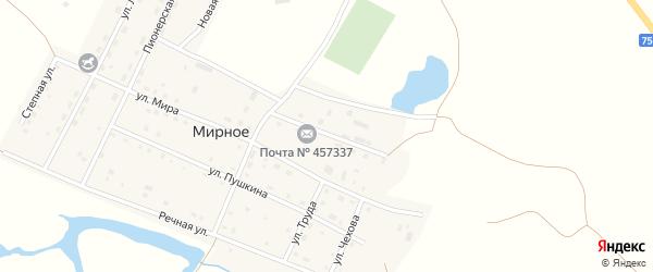 Школьная улица на карте Мирного села с номерами домов