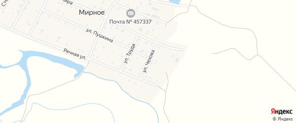 Улица Чехова на карте Мирного села с номерами домов