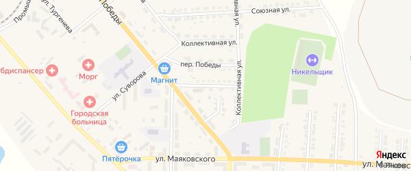 Улица Островского на карте Верхнего Уфалея с номерами домов