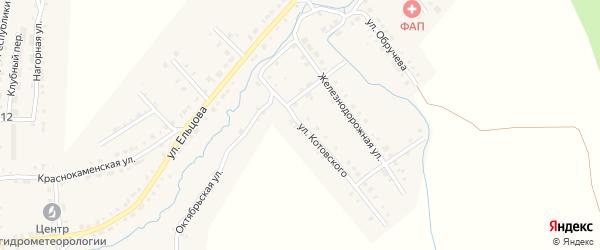 Улица Котовского на карте Верхнего Уфалея с номерами домов
