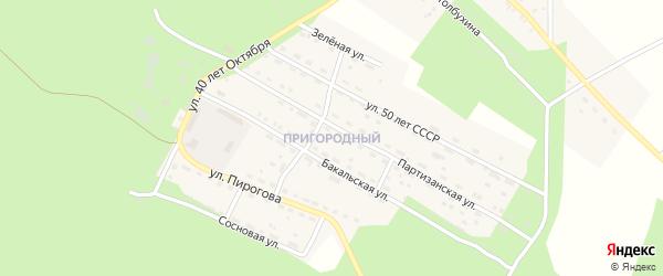 Удачный сад на карте Пригородного поселка с номерами домов