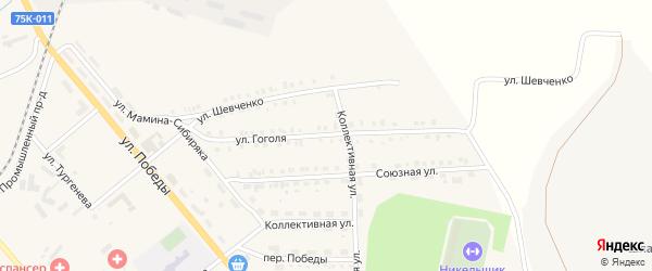 Улица Гоголя на карте Верхнего Уфалея с номерами домов