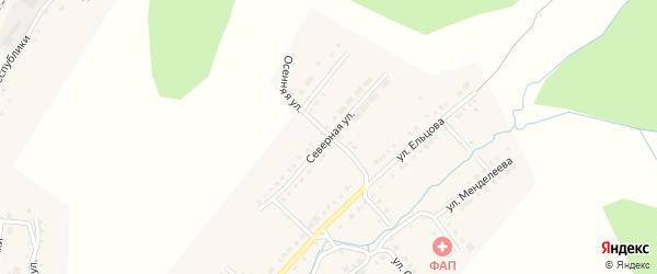 Северная улица на карте Верхнего Уфалея с номерами домов