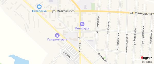 Улица Лермонтова на карте Верхнего Уфалея с номерами домов