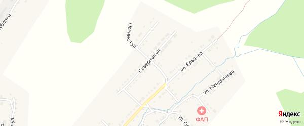 Северный переулок на карте Верхнего Уфалея с номерами домов
