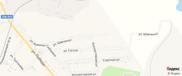 Улица Шевченко на карте Верхнего Уфалея с номерами домов