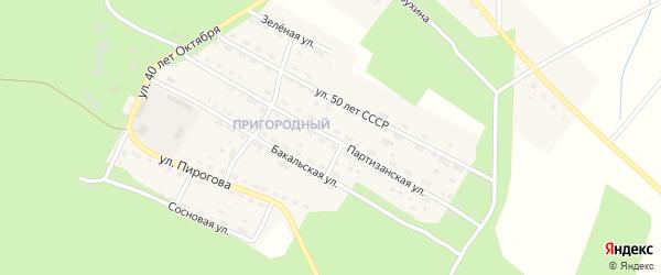 Партизанская улица на карте Пригородного поселка с номерами домов