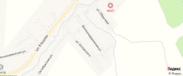 Железнодорожная улица на карте Верхнего Уфалея с номерами домов