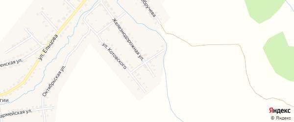 Переулок Котовского на карте Верхнего Уфалея с номерами домов