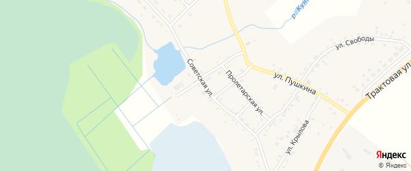 Советская улица на карте деревни Сарафаново с номерами домов