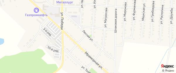 Лесная улица на карте Верхнего Уфалея с номерами домов