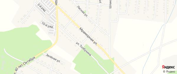 Мраморная улица на карте Верхнего Уфалея с номерами домов