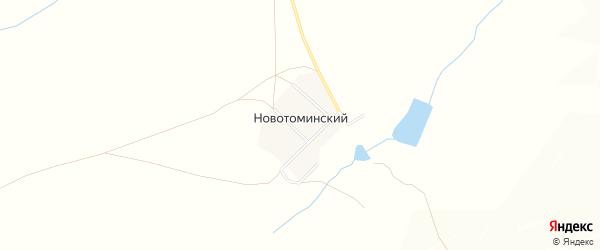 Карта Новотоминского поселка в Челябинской области с улицами и номерами домов