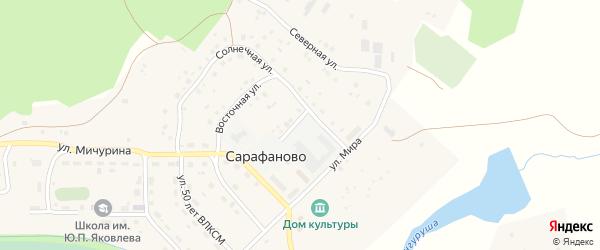 Детский переулок на карте деревни Сарафаново с номерами домов