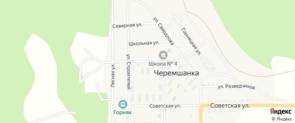 Улица Лермонтова на карте поселка Черемшанки с номерами домов
