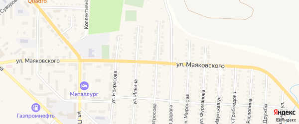Улица Маяковского на карте Верхнего Уфалея с номерами домов