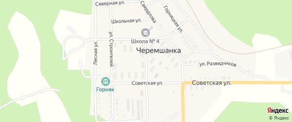 Улица Пушкина на карте поселка Черемшанки с номерами домов