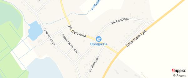 Улица Пушкина на карте деревни Сарафаново с номерами домов