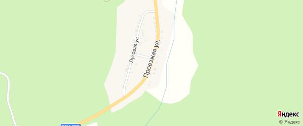 Проезжая улица на карте поселка Черемшанки с номерами домов