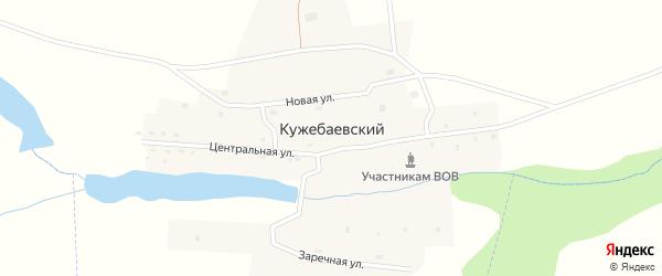 Центральная улица на карте Кужебаевского поселка с номерами домов