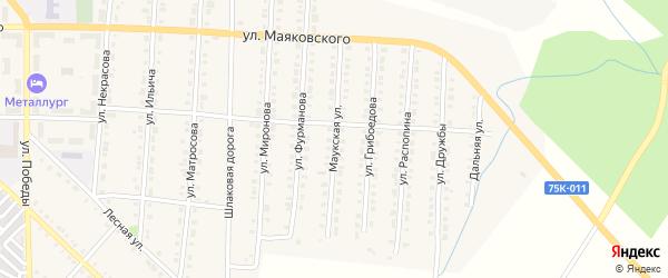 Маукская улица на карте Верхнего Уфалея с номерами домов